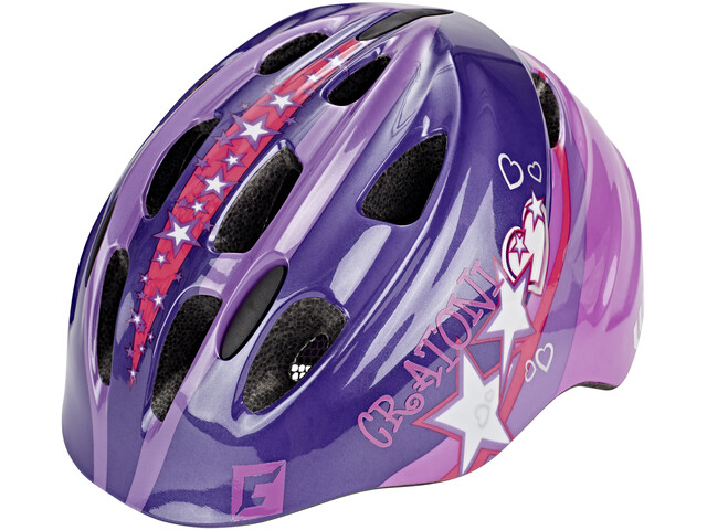 Cratoni Akino Helmet Kids purple-pink glossy
